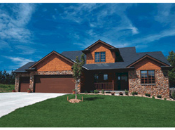 front of rustic style 2-story house plan