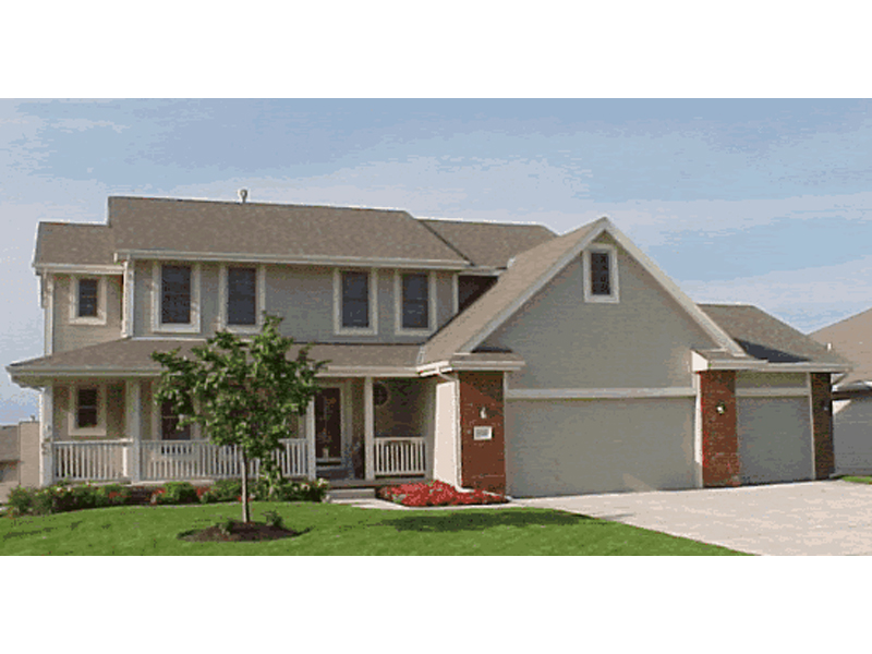 Traditional House Plan Front of Home 026D-1088