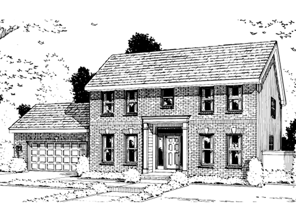 Mayerthorpe early american home plan 026d 1131 house for Early american house plans