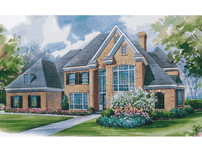 Long grove luxury home plan 026d 1277 house plans and more for Luxury brick house plans