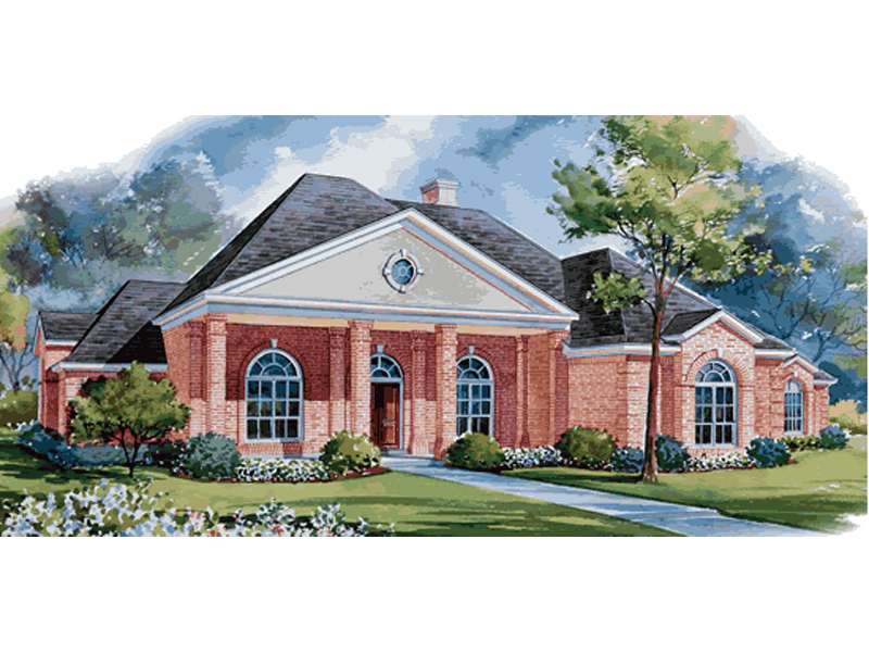 Ranch House Plan Front of Home 026D-1282