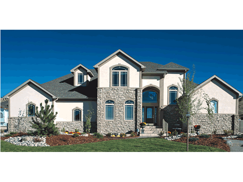 Prairie Style Floor Plan Front of Home 026D-1329
