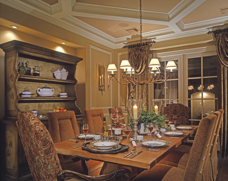 Country French Home Plan Dining Room Photo 01 026D-1405