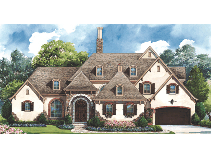 Country French House Plan Front Image 026D-1405
