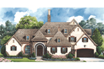 Country French Home Plan Front Image - 026D-1405 | House Plans and More