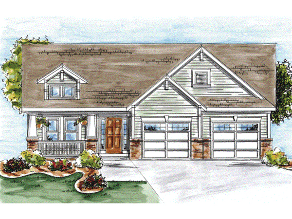 Mt Summit Craftsman Ranch Home Plan 026d 1639 House