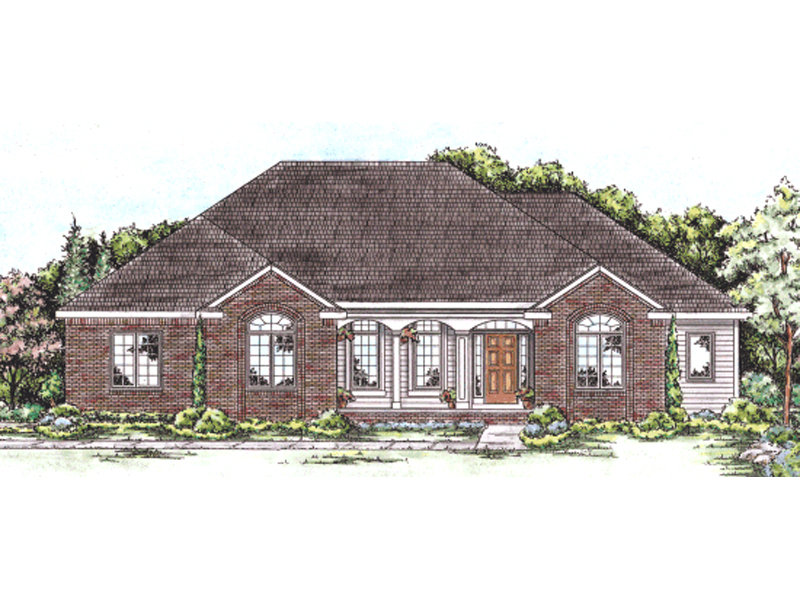 Bicknell Traditional Ranch Home Plan 026d 1658 House
