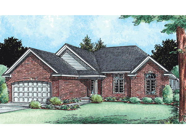 Berryton brick ranch home plan 026d 1764 house plans and for Small brick ranch house plans