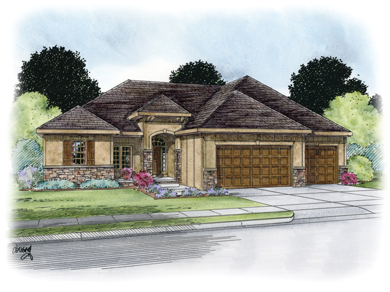 Ranch House Plan Front Image - 026D-1862 | House Plans and More