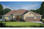 Ranch House Plan Front of Home - 026D-1864 | House Plans and More