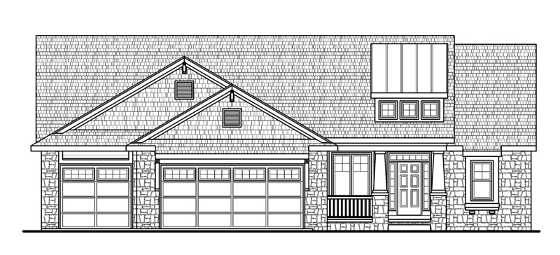 Ranch House Plan Front of Home - 026D-1865 | House Plans and More