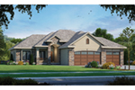 Rustic Home Plan Front of Home - 026D-1871 | House Plans and More