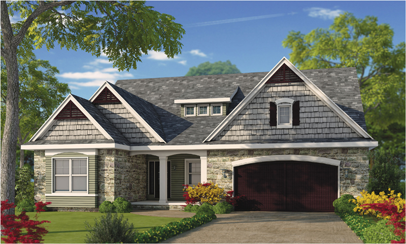 Ranch House Plan Front of Home - 026D-1930 | House Plans and More
