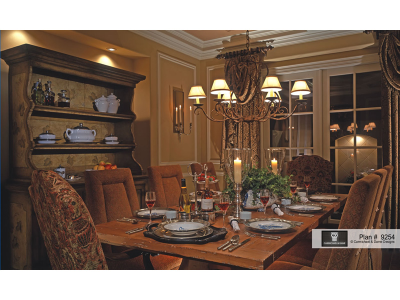 Tudor House Plan Dining Room Photo 01 026S-0018