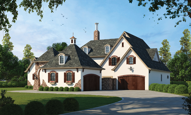 Luxury House Plan Front of Home 026S-0018