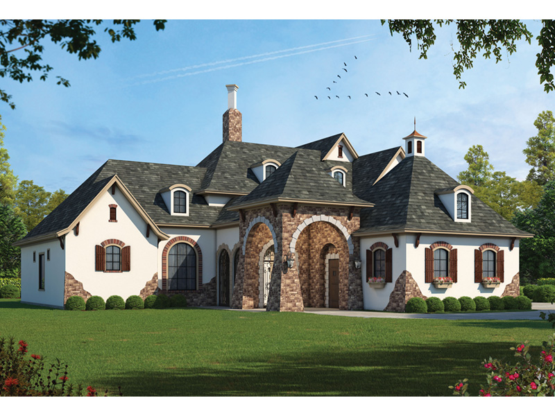 Tudor House Plan Front Photo 01 026S-0018