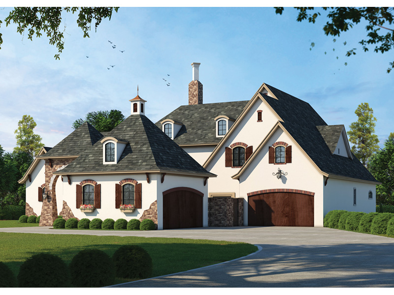 European House Plan Front Photo 02 - 026S-0018 | House Plans and More