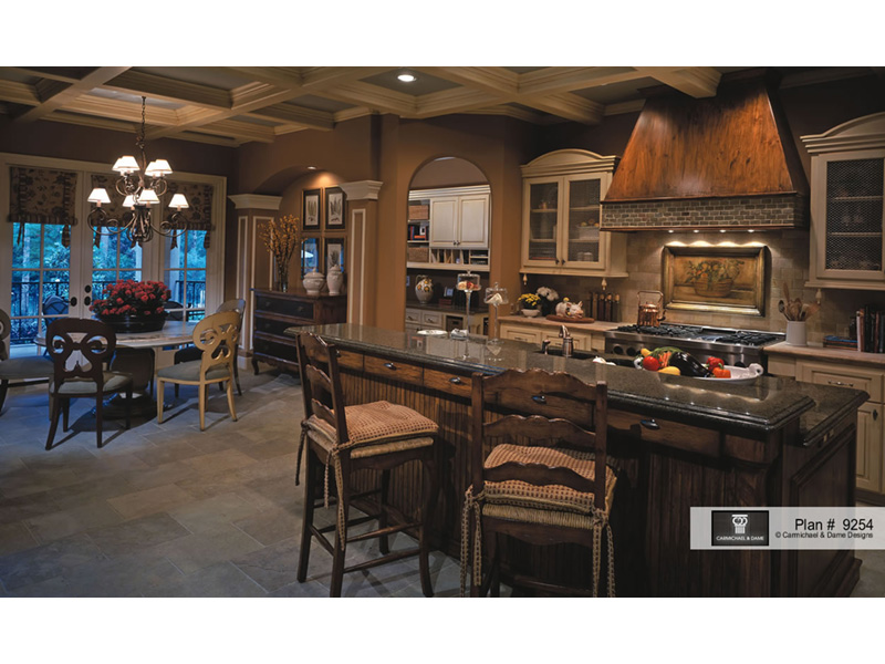 Colonial Floor Plan Kitchen Photo 01 - 026S-0018 | House Plans and More