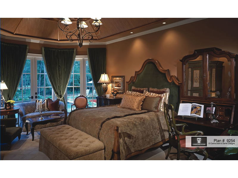 European House Plan Master Bedroom Photo 01 026S-0018