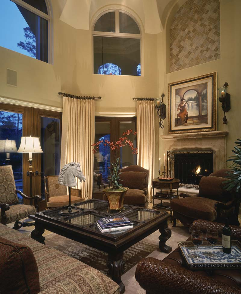 Adobe & Southwestern House Plan Living Room Photo 01 026S-0020