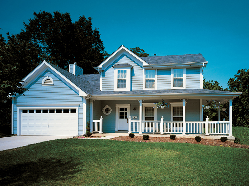 Colonial House Plan Front of Home 027D-0005
