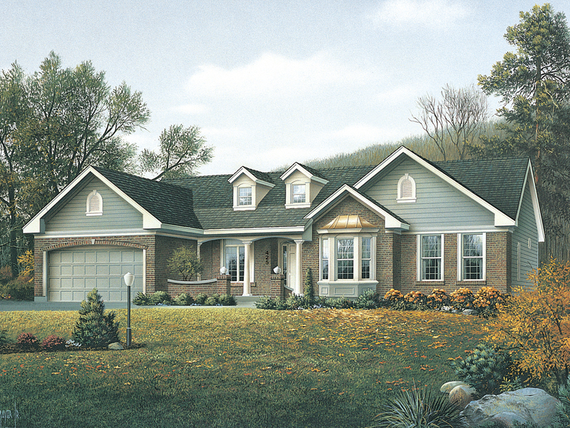 Evergreen Traditional Ranch Home Plan 027d 0006 House