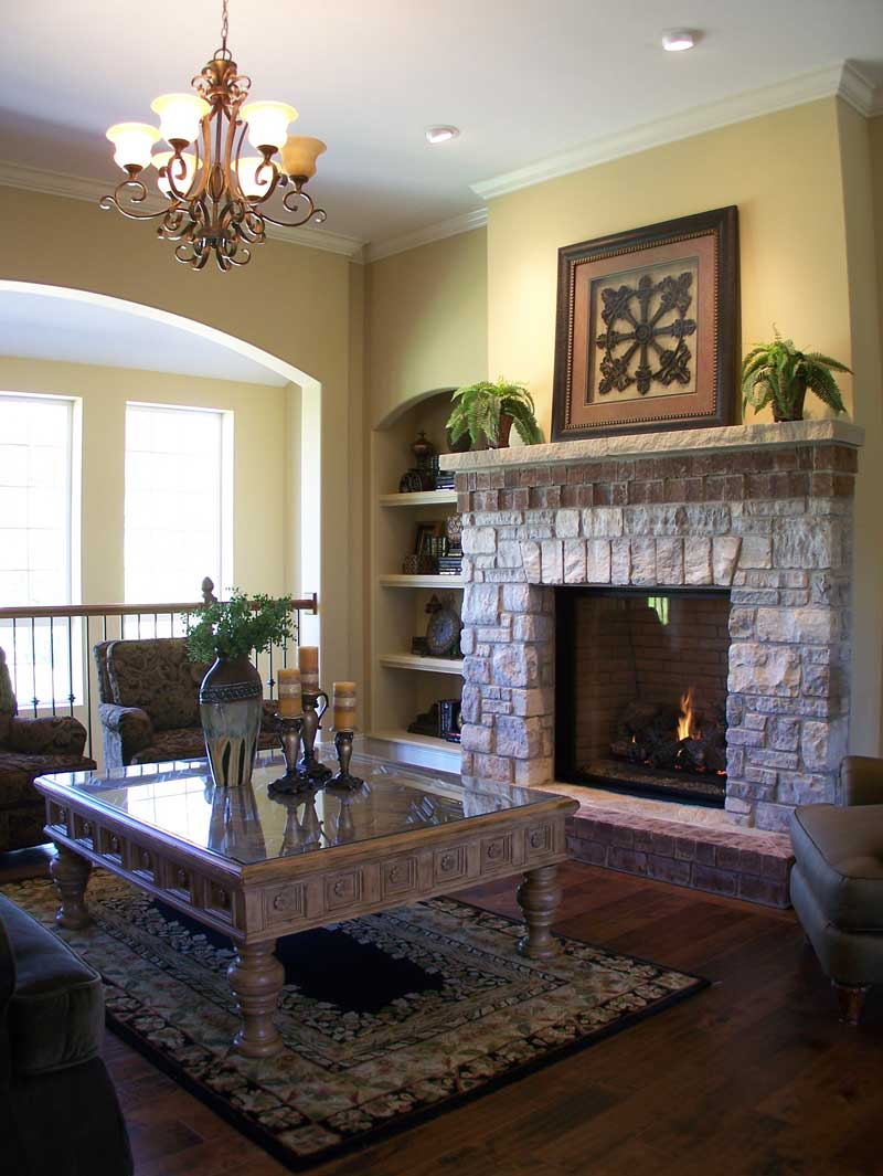 Country French Home Plan Fireplace Photo 01 - 027D-0022 | House Plans and More