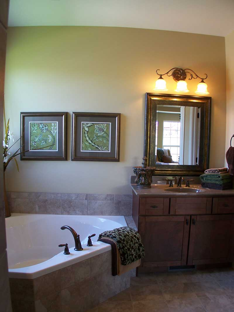 Country French Home Plan Master Bathroom Photo 01 - 027D-0022 | House Plans and More