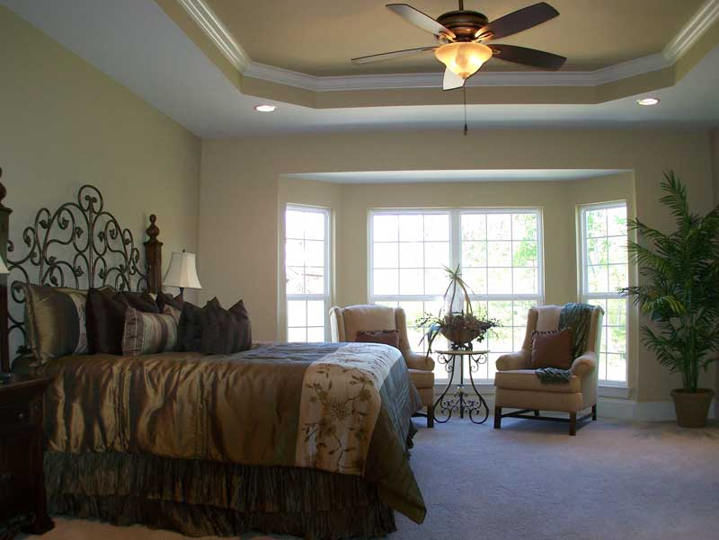 Country French Home Plan Master Bedroom Photo 01 - 027D-0022 | House Plans and More