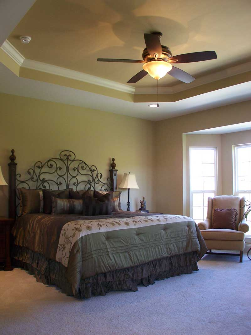 Country French Home Plan Master Bedroom Photo 02 - 027D-0022 | House Plans and More