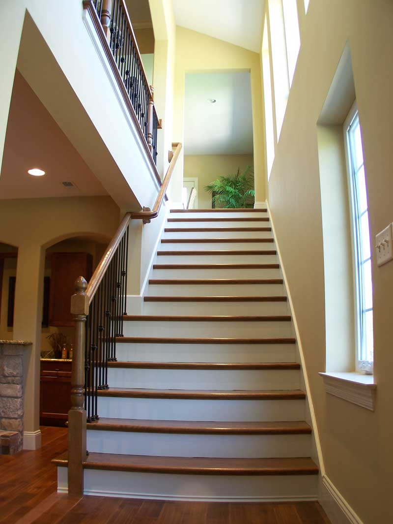 European House Plan Stairs Photo 01 - 027D-0022 | House Plans and More