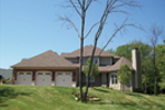 European House Plan Side View Photo 01 - 027S-0003 | House Plans and More