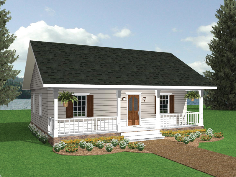 Traditional House Plan Front Image - 028D-0001 | House Plans and More