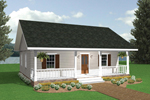 Acadian House Plan Front Image - 028D-0001 | House Plans and More