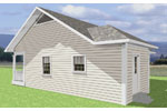 Vacation Home Plan Color Image of House - 028D-0001 | House Plans and More