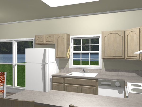 Vacation Home Plan Kitchen Photo 01 028D-0002