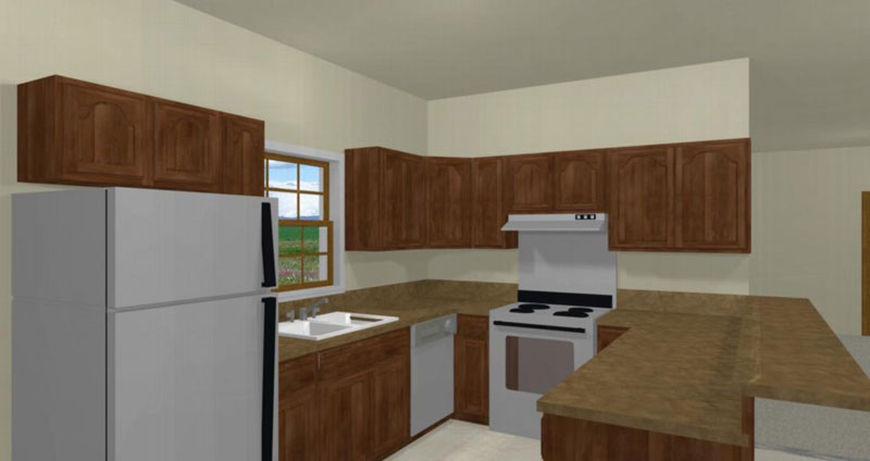 Colonial Floor Plan Kitchen Photo 02 028D-0002