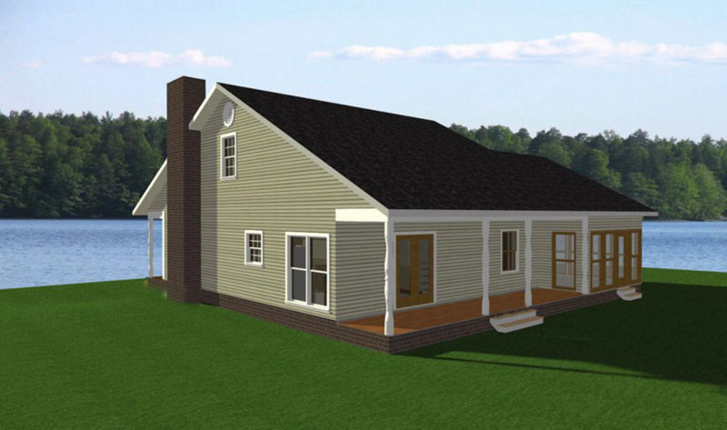 Saltbox House Plan Color Image of House 028D-0002