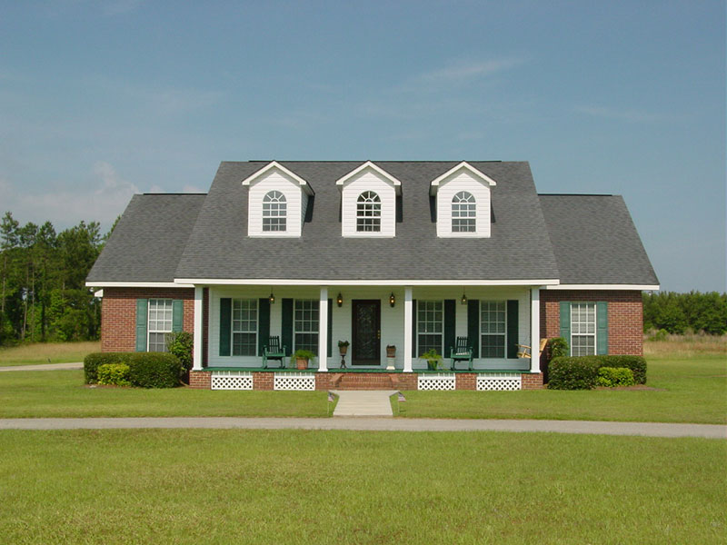 Country House Plan Front of Home 028D-0004