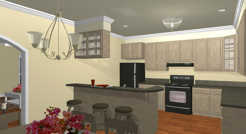 Ranch House Plan Kitchen Photo 01 - 028D-0006 | House Plans and More