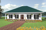 Southern Home With Symmetrical Style 