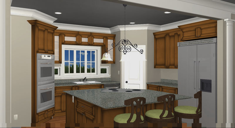Colonial House Plan Kitchen Photo 01 028D-0007