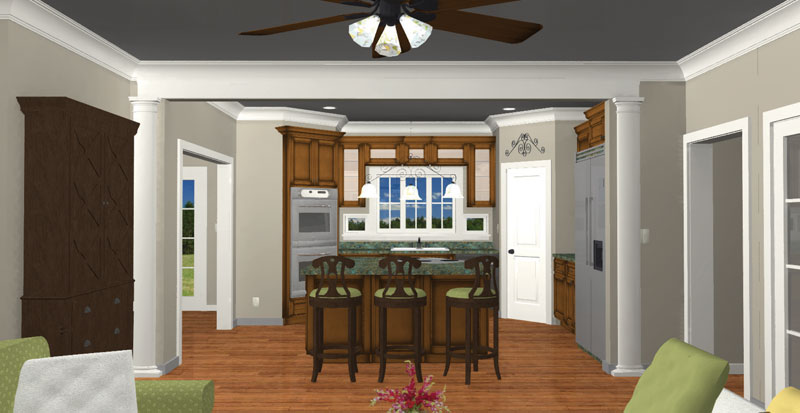 Ranch House Plan Kitchen Photo 02 028D-0007