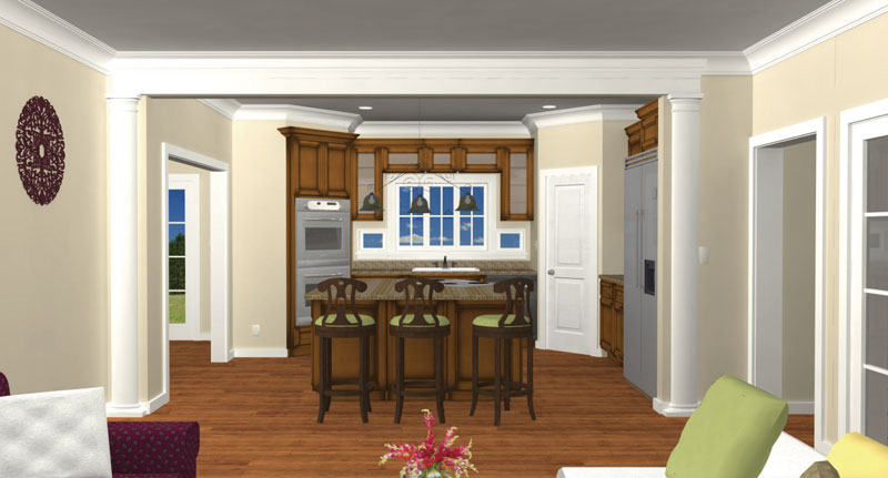 Ranch House Plan Kitchen Photo 03 028D-0007