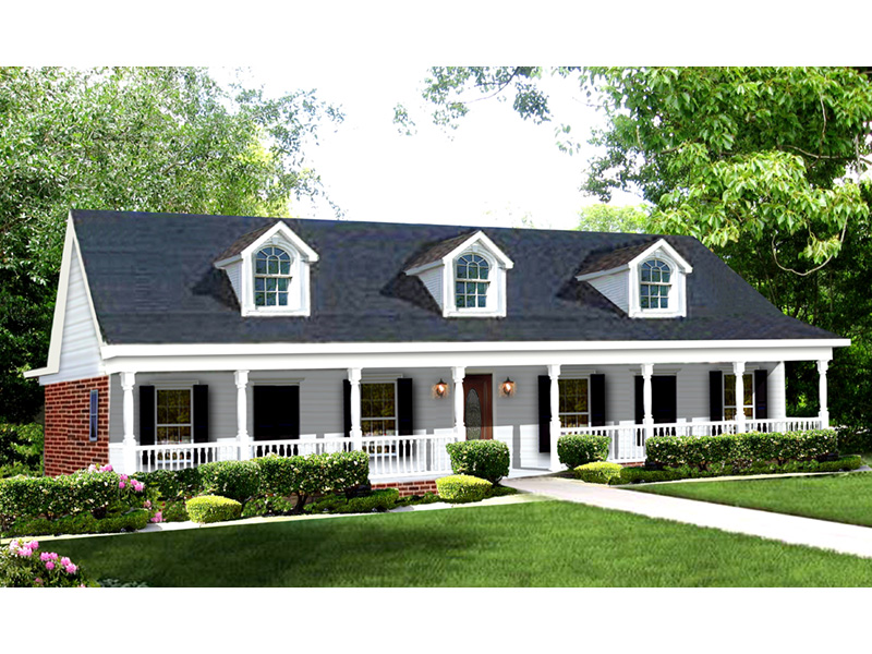 Ranch House Plan Front Image - 028D-0008 | House Plans and More