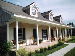 sprawling covered front porch viewthisplan - House Plans With Porches
