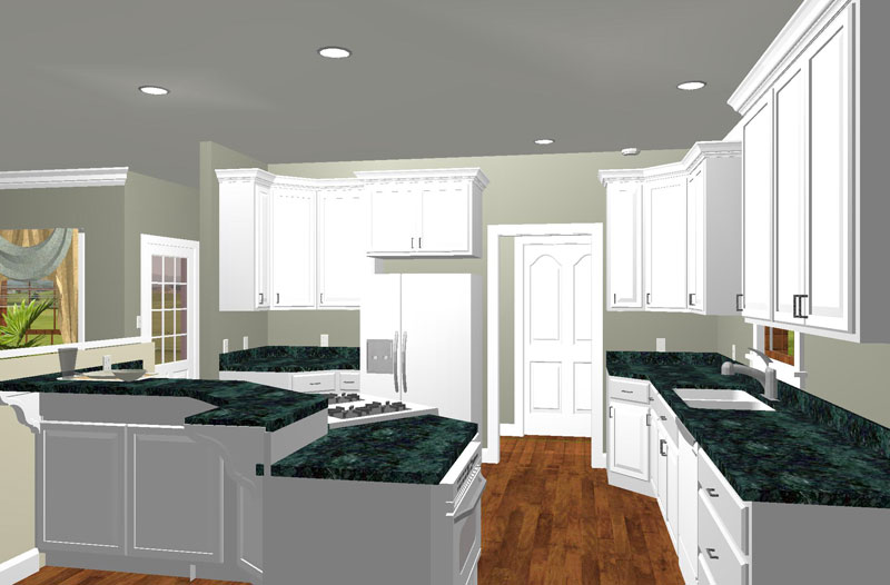 Cape Cod and New England Plan Kitchen Photo 01 - 028D-0011 | House Plans and More