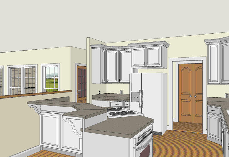 Southern House Plan Kitchen Photo 02 - 028D-0011 | House Plans and More