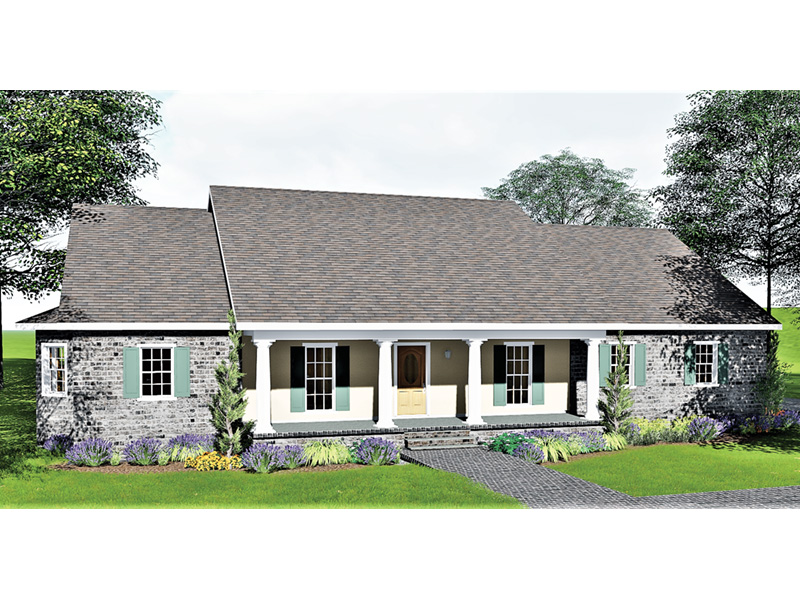 Ranch House Plan Front Photo 01 - 028D-0012 | House Plans and More