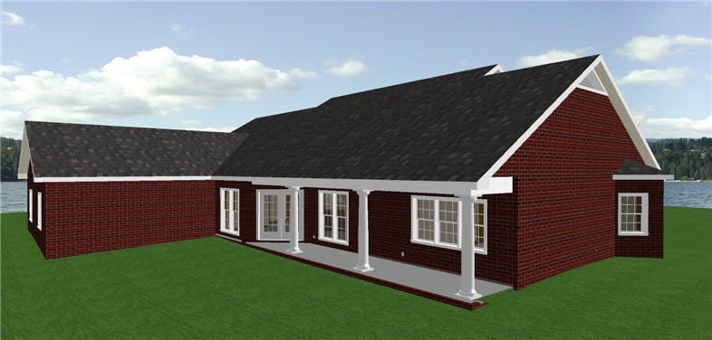 Ranch House Plan Side View Photo 01 - 028D-0012 | House Plans and More
